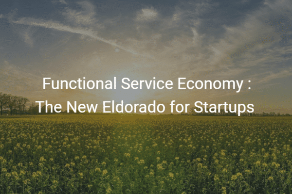 Functional Service Economy The New Eldorado for Startups